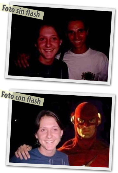 on flash y sin flash