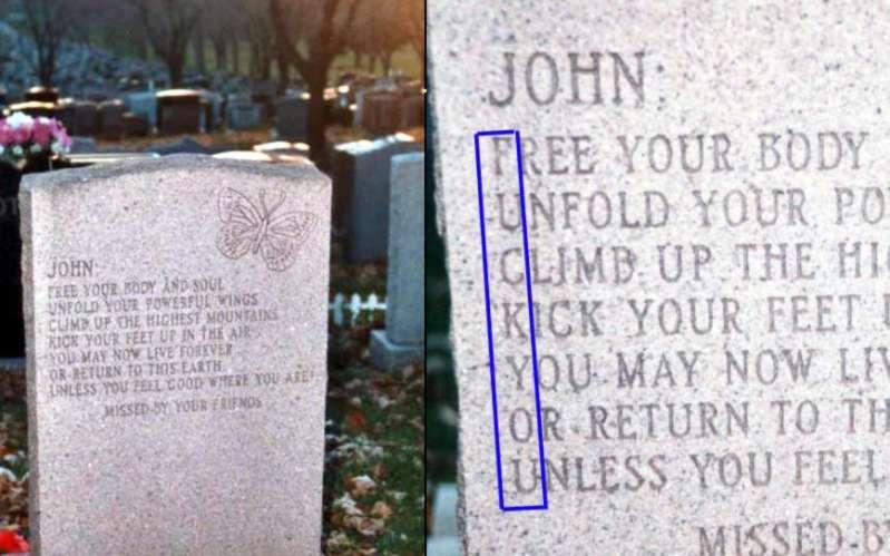 Mensajes en lápidas