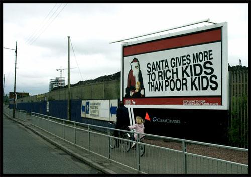 Santa Claus da más a los niños ricos que a los pobres