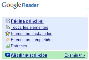Google Reader en castellano