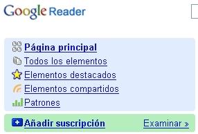 Google Reader en castellano
