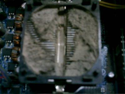 Fotos de ordenadores con polvo estropeados