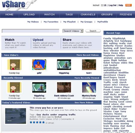 Vshare: Plataforma para crear portales de vídeos tipo Youtube