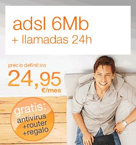 Más barato el Adsl de 6Mb que el de 3Mb en Orange