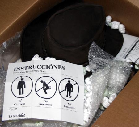Manual de instrucciones para la colocación de un sombrero