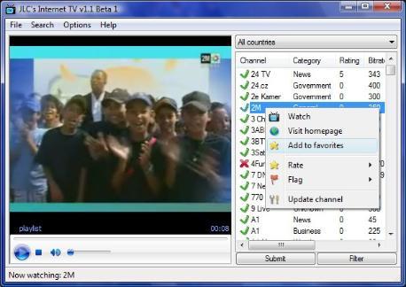 Cómo ver en tu ordenador 2.000 canales de TV gratis con JLC's Internet TV