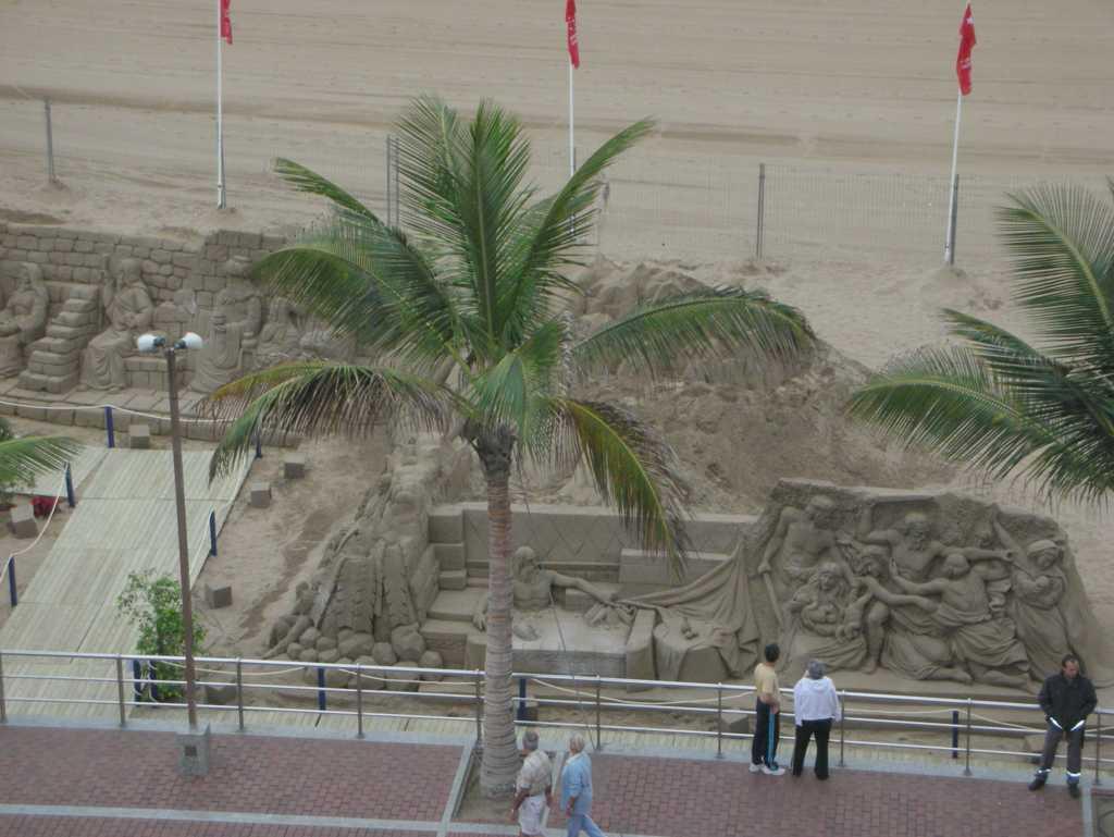 Fotografías de esculturas de arena