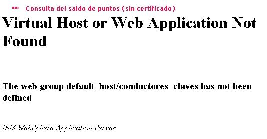 Error en la página web de la DGT