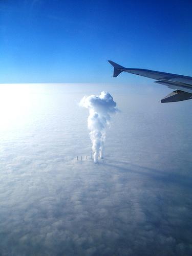 Fotografía de la fábrica de nubes