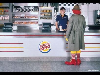 Ronald Mcdonalds cazado en Burger King