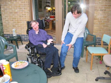 Jim Carrey bromeando con Stephen Hawking