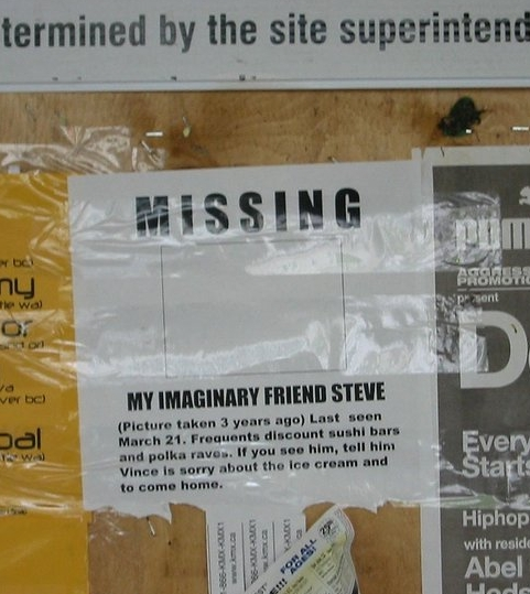 Amigo imaginario desaparecido