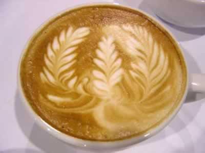 Obras de arte con el café