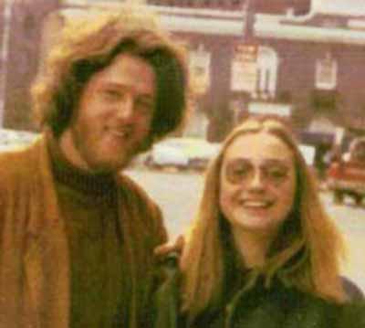 Bill Clinton y Hillary Clinton de jóvenes