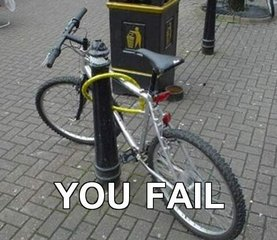 Cómo no poner un candado a tu bicicleta