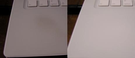 Cómo quitar manchas de la MacBook blanca