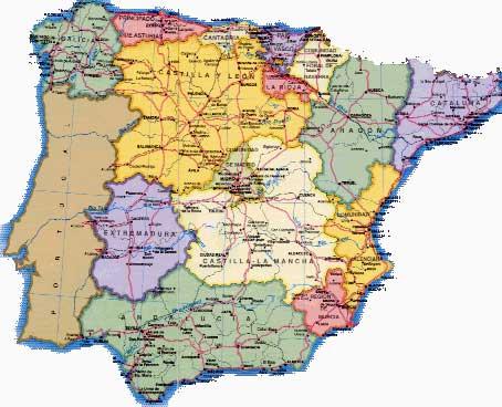 Distribución territorial de apellidos y año de nacimiento