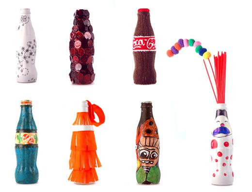 Botellas de Coca-Cola tuneadas