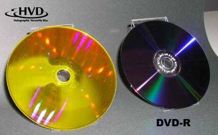 El formato del futuro será el HVD, 3.9 Terabytes en un disco