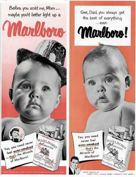 Anuncios de tabaco viejos e impresionantes