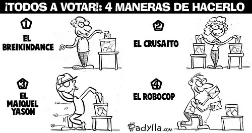 Métodos Rodolfo Chiquilicuatre para votar