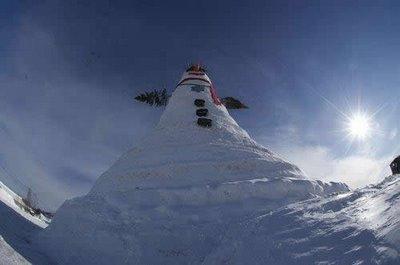El muñeco de nieve más grande del mundo