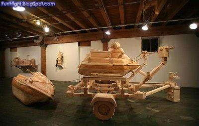 Obras de arte hechas con madera