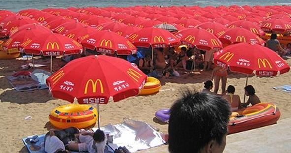 Un día en una playa de China