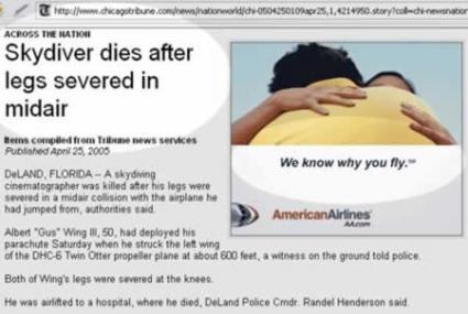 Sitios desafortunados de anuncios publicitarios