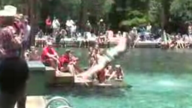 Concurso de tripadas en el agua