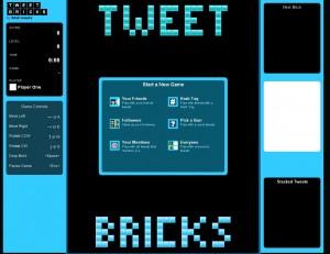 Tweetbricks.com: Juega con tus contactos de Twitter al Tetris