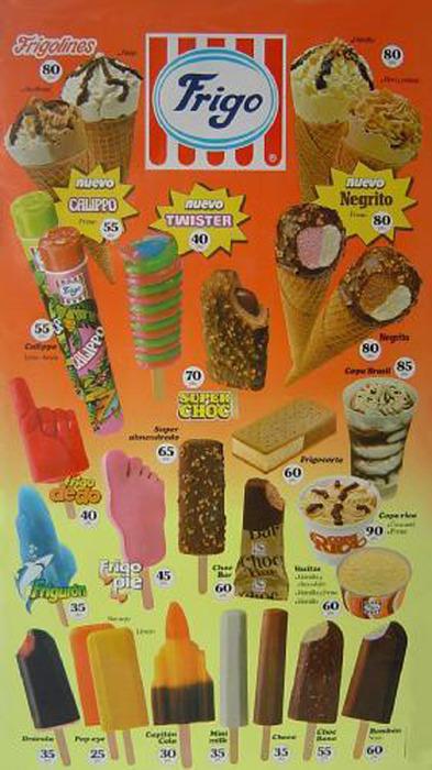 Los helados de Frigo y las Pesetas