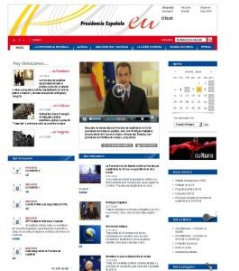 Eu2010.es: La web de España de la presidencia en la Unión Europea.