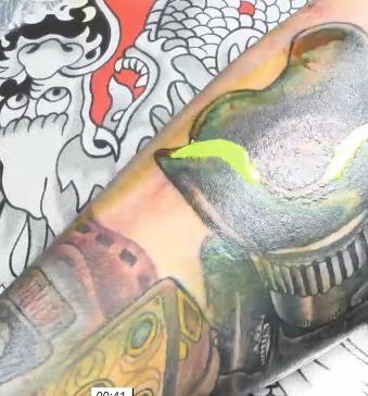 Vídeo del proceso de un tatuaje 3