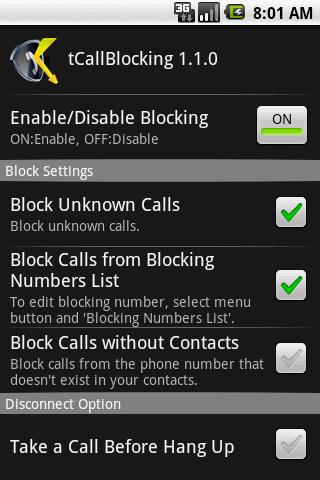 tCallBlocking