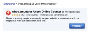 whos.amung.us Extension Chrome Users Online Counter