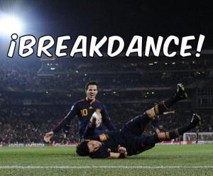 Breakdance en la celebración de España