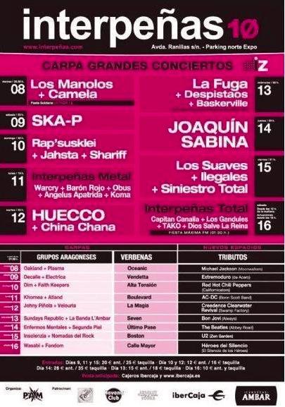 Conciertos Interpeñas 2010