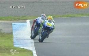 Pelea entre Rossi y Lorenzo