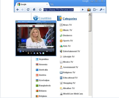 TV Chrome Ver la televisión directamente desde el navegador Chrome