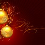 fondo escritorio navidad con bolas navideñas