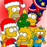 fondo escritorio navidad de la familia Simpson