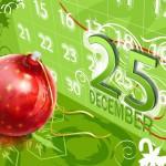 fondo escritorio navidad con el 25 de Diciembre