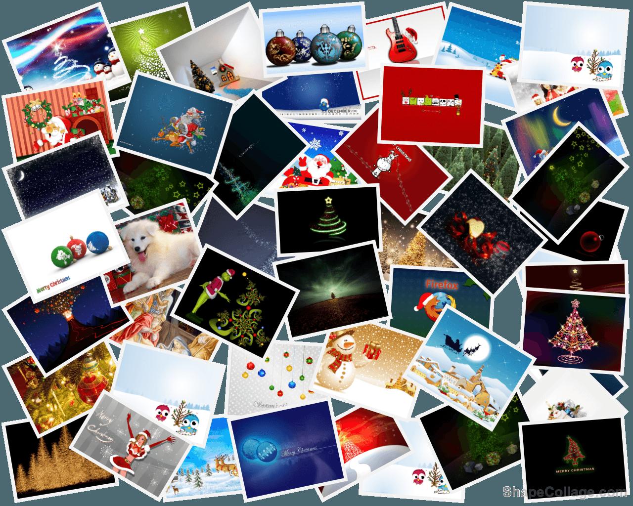 fondo escritorio navidad con un collage
