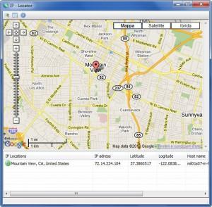 IP Locator: Programa para ver en mapa la localización de una IP