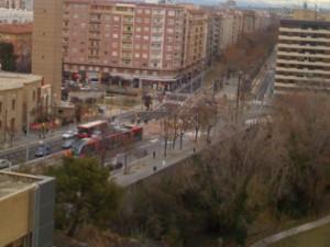 Fotos del tranvía de Zaragoza en pruebas