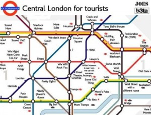 Mapa del metro de Londres para turistas