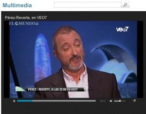 Entrevista a Perez-Reverte en VEo TV