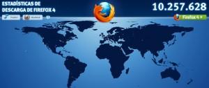 Estadísticas en tiempo real de Firefox