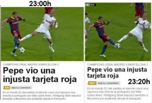 La entrada de Pepe a Alves y la manipulación de AS
